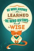 Wise words. — Stock Vector