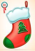 Noel çorap vektör — Stok Vektör