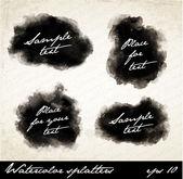 Watercolor splatters. — Stock Vector