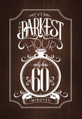 Even the darkest hour — Stock Vector