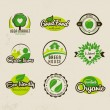 Eco bio natural labels — Vector de stock