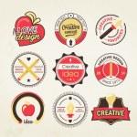 Creative design badge — Stock Vector