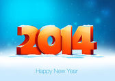 Creative new year 2014 design. — Stock Vector