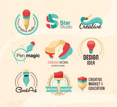 Creative design badges — Stock Vector