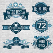 Vector retro badges — Stock Vector