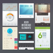Set of various elements used for user interface — Stock Vector