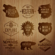 Set of native american labels — Stock Vector