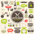 Kitchen vector icons — Stock Vector #42784785