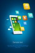 White smartphone — Stock Vector