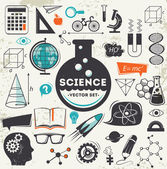 Science icons set — Stockvector