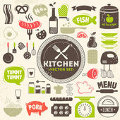 Kitchen vector icons — Stock Vector