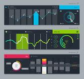 Insieme di vari elementi utilizzati per l'interfaccia utente — Vettoriale Stock