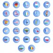 Vector buttons with flags of the states of the European union. — Stock Vector