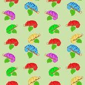 Barevný vzor bezešvé chameleoni — Stock vektor