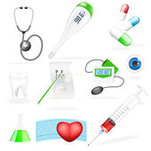 Vector medical set — Stock Vector