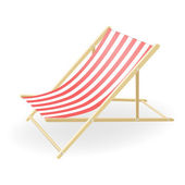 Vector illustration of the striped sunchair — Vector de stock