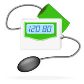 Digital Blood Pressure Monitor. Vector Illustration — Stock Vector