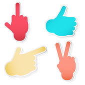 Hand Symbols. Vector illustration — Stock Vector