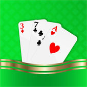 Playing cards vector background — ストックベクタ
