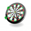 Darts. Vector illustration — Stock Vector