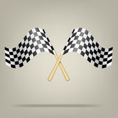 Checkered Racing Flags. Vector illustration. — Stock Vector