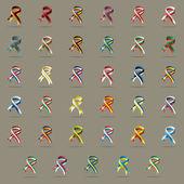 European flags ribbons Vector illustration — Stock Vector