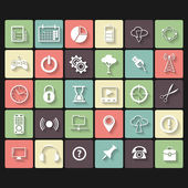 Universal Vector Flat Icons for Web and Mobile Applications — Stock Vector