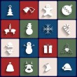 Flat icons set. Christmas and New Year. Vector — Stock Vector #34736269