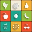 Vector fruits flat icon set — Stock Vector #35273005