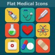 Medical vector flat color icons set — Stock Vector