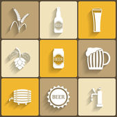 Beer Flat Icons — Stock Vector