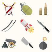 Weapon vector icon set — Stockvektor