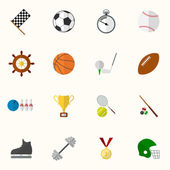 Set of vector sport icons in flat design — Wektor stockowy