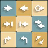Arrow vector sign icon set — Stock Vector