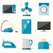 Set of household appliances vector icons — Stock Vector