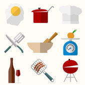 Cooking vector icons — Stock Vector