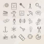 Conjunto de iconos de vector universal. — Vector de stock