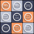 Set of vector flat sale icons — Stock Vector