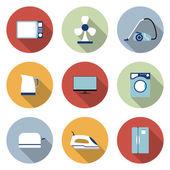 Set of household appliances vector icons — Vecteur