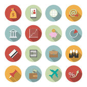 Office and Business Vector Flat Icons — Vector de stock