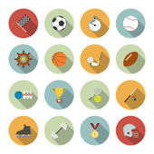 Set of vector sport icons in flat design — Stock Vector