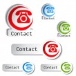 Contact buttons - phone icons — Stock Vector