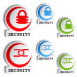 Symbol of security - set of buttons — Stock Vector #16881735