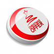 Button, Christmas offer with tree — Stock Vector
