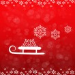 Christmas background, sledge and snowflake - EPS 10 — Stock Vector #16881921