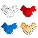 Gesture hand - handshake symbol - EPS 10 — Stock Vector #16881997