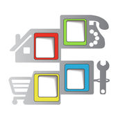Web navigation - menu template — Stock Vector