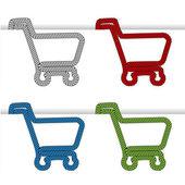 Shopping cart item - shopping trolley — Stock Vector