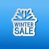 Paper winter sale, sticker - Christmas offer — Vector de stock