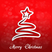 Árvore de Natal de papel com estrela - eps 10 — Vetor de Stock